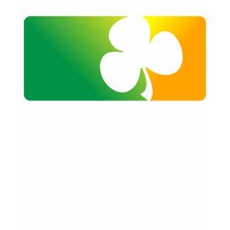 Irish Shamrock Flag Green Ladies Petite shirt