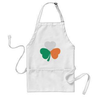 irish shamrock flag adult apron