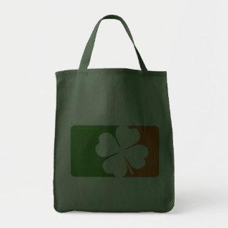 Irish Shamrock Flag Grocery Tote Bag