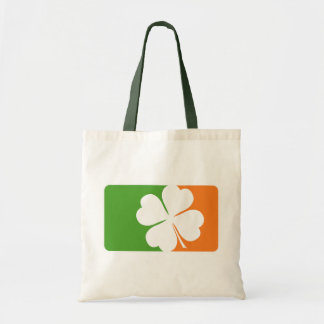 Irish Shamrock Flag Budget Tote Bag
