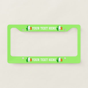 HANDS OFF MY LUCKY CHARMS IRISH IRELAND License Plate Frame Stainless