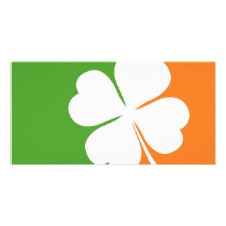 Irish Shamrock Flag Photo Card