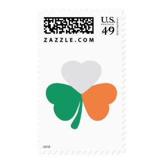 irish shamrock flag stamp