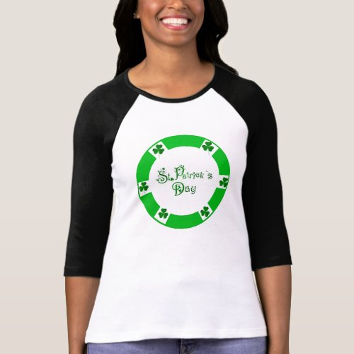 Irish Shamrock for Women's-Raglan-T-Shirt T-shirt