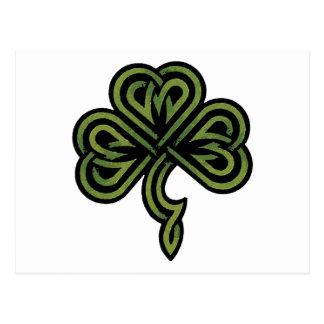 Irish Shamrock Gift Postcard