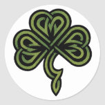 Irish Shamrock Gift Round Sticker