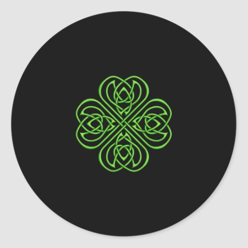 Irish Shamrock - Green Celtic Knotwork