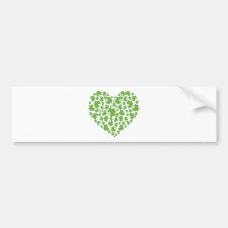 Irish Shamrock Heart Bumper Sticker