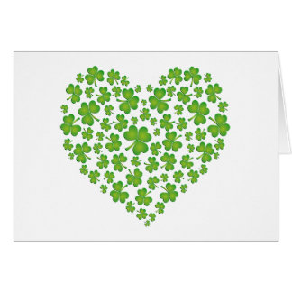 Irish Shamrock Heart Card
