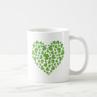 Irish Shamrock Heart Coffee Mug