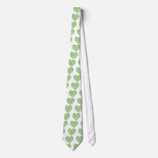 Irish Shamrock Heart Neck Tie