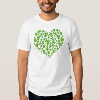 Irish Shamrock Heart T-shirts