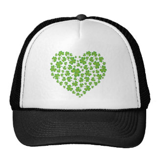 Irish Shamrock Heart Trucker Hat