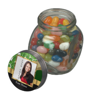 Irish shamrock instagram  photo template jelly belly candy jar