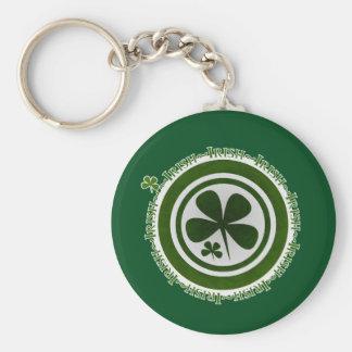 Irish Shamrock Keychain