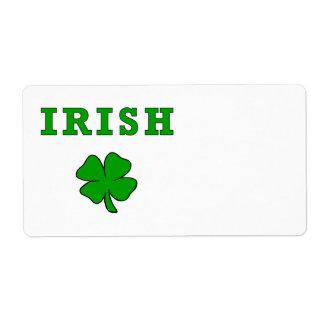 Irish Shamrock Label
