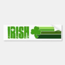 st. patricks day, irish, shamrock, lucky, march, Bumper Sticker with custom graphic design