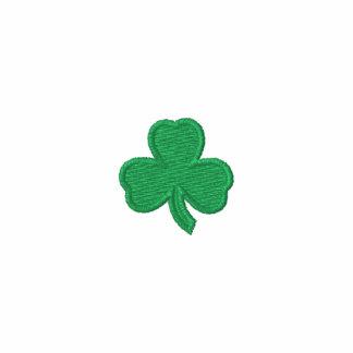 Irish Shamrock Long Sleeved Embroidered Shirt