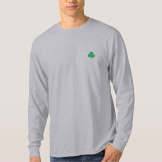 Irish Shamrock Long Sleeved Embroidered Shirt