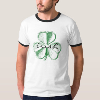 Irish Shamrock Men's Ringer Tee