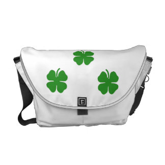 Irish Shamrock Messenger Bag