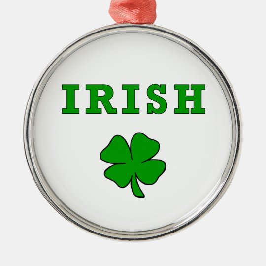 Irish Shamrock Metal Ornament