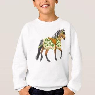 Irish Shamrock Parade Horse Kids Sweatshirt