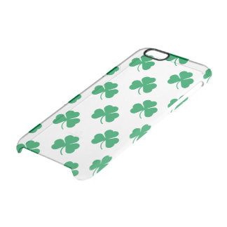 Irish Shamrock Pattern Clear iPhone 6/6S Case
