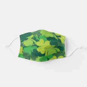 Irish Shamrock Pattern Cloth Face Mask