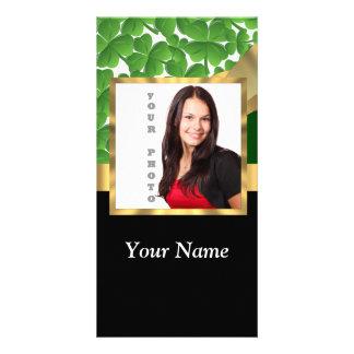 Irish shamrock personalized instagram card