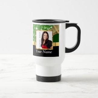 Irish shamrock personalized instagram travel mug