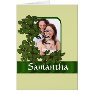 Irish shamrock photo template