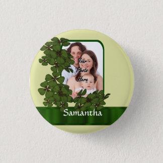 Irish shamrock photo template button