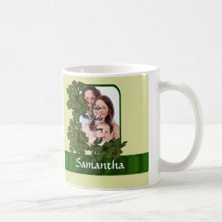 Irish shamrock photo template classic white coffee mug