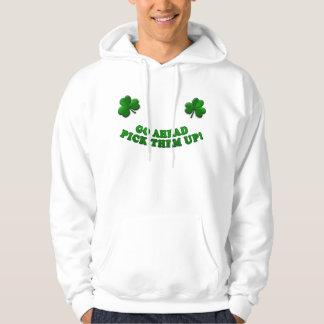Irish shamrock pullover