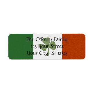 Irish Shamrock Return Address Label