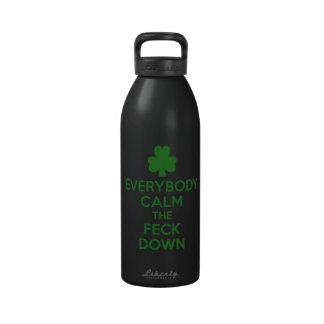 Irish shamrock reusable water bottle