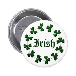 Irish Shamrock Ring Button