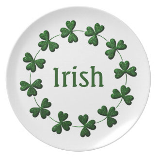 Irish Shamrock Ring Plate