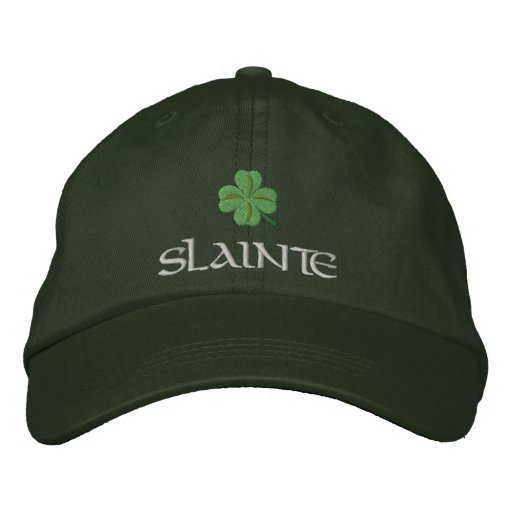 Irish shamrock slainte St Patrick's Embroidered Baseball Cap