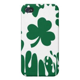 Irish Shamrock Splat ! iPhone 4 Cover