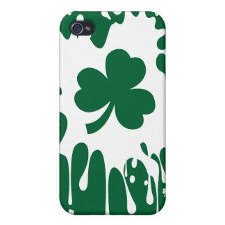 Irish Shamrock Splat ! Covers For iPhone 4