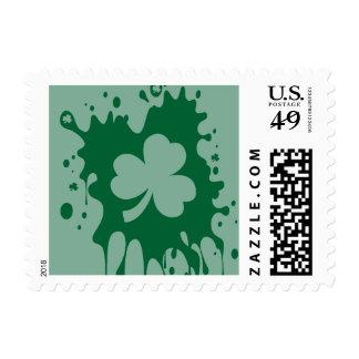 Irish Shamrock Splat ! Postage