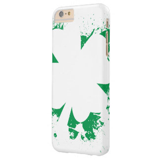 Irish Shamrock Splatter Stencil Barely There iPhone 6 Plus Case