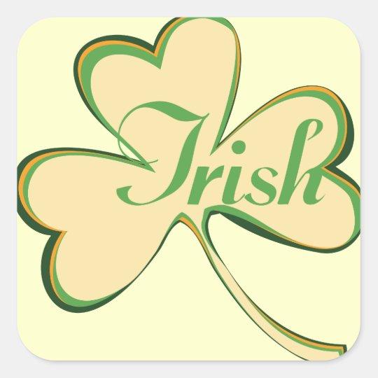 Irish Shamrock Square Sticker