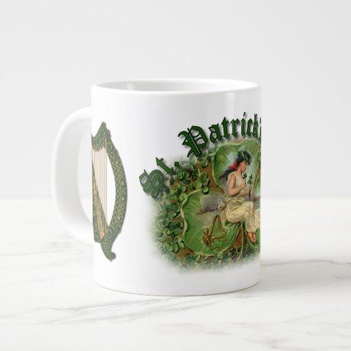 Irish Shamrock St. Patrick's Day Mug - 1 Jumbo Mug