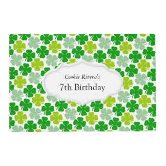 Irish Shamrock St. Patrick's Day Placemat