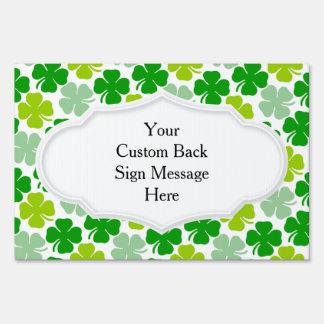 Irish Shamrock St. Patrick's Day Lawn Sign