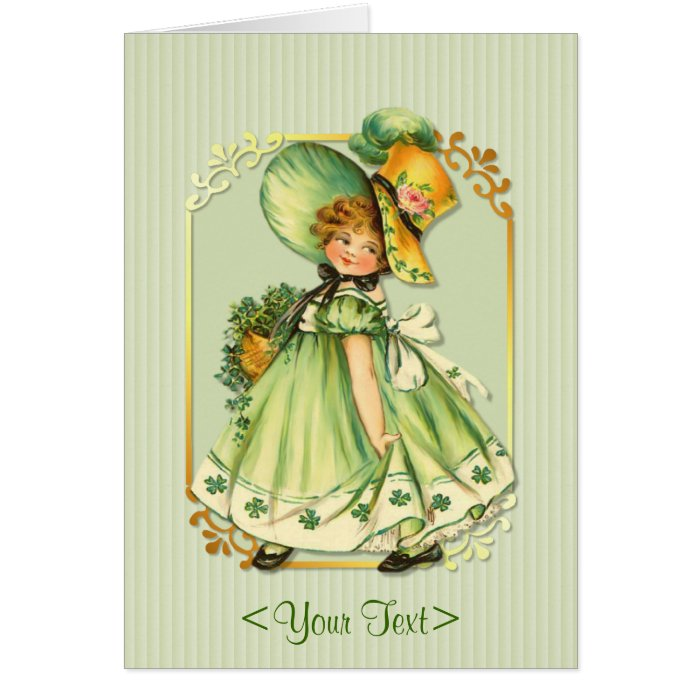 Irish Shamrock Stroll - Personalize Card