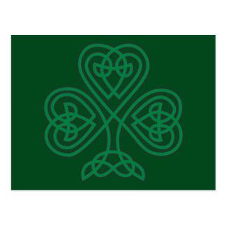 IRISH SHAMROCK SYMBOL POSTCARD